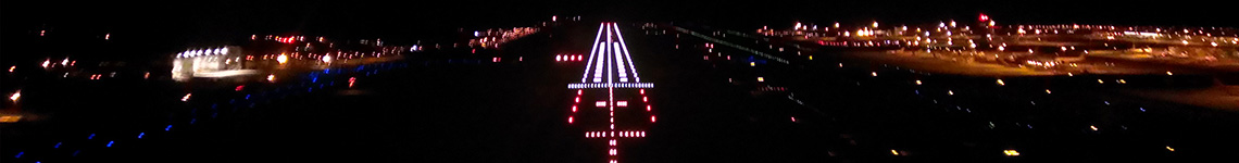 Airport runway at Night