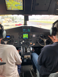 Cockpit of DC3 airplane